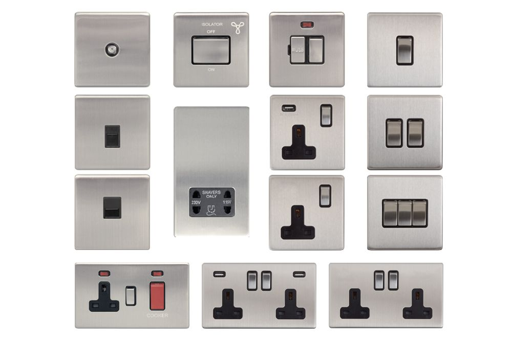Wall Light With Shaver Socket: Screwless Area Light Switch Switches USB Socket Sockets