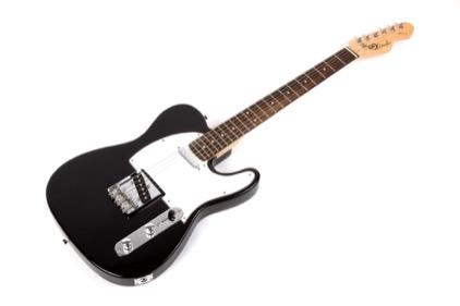 full size lindo black tele electric guitar solid basswood body maple neck bag ebay. Black Bedroom Furniture Sets. Home Design Ideas