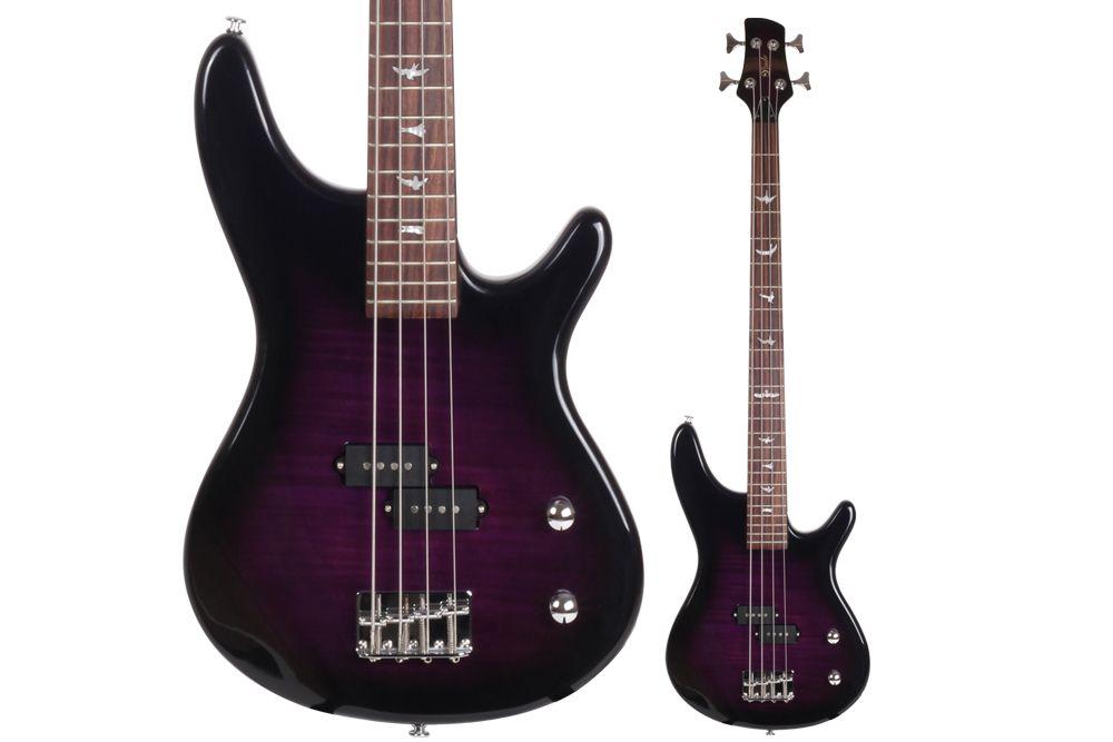 Lindo Purple Tiger Electric Bass Guitar Amp Free Gig Bag And