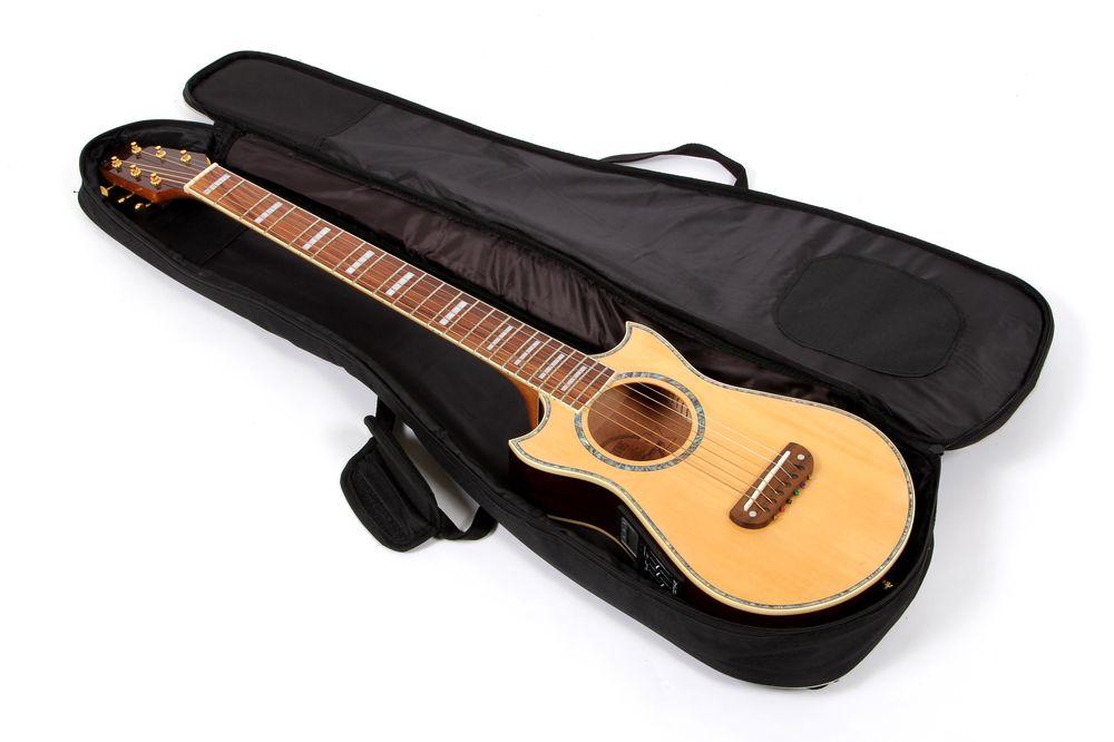 lindo black padded gig bag for voyager electro acoustic travel guitar ebay. Black Bedroom Furniture Sets. Home Design Ideas
