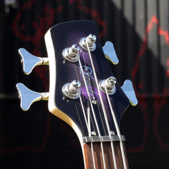 lindo-left-handed-purple-dove-bass-headstock