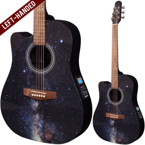 Lindo Left Handed Galaxy Slim Electro Acoustic Guitar with F-4T Preamp and Padded Gigbag