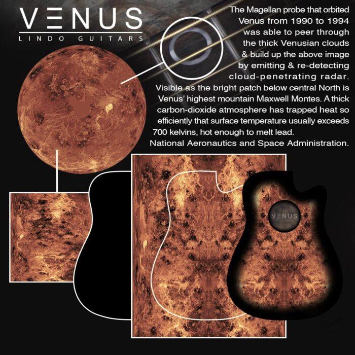Lindo Left Handed Venus Slim Electro Acoustic Guitar and Padded Gigbag