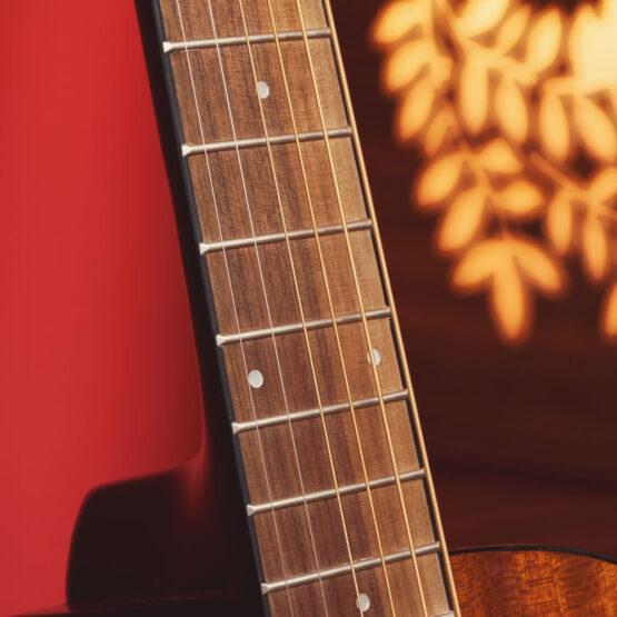 Lindo-Left-Handed-931C-Mahogany-Acoustic-Guitar-fretboard