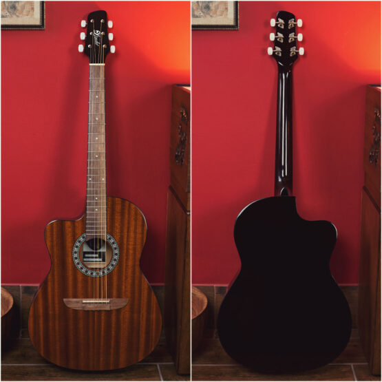 Lindo-Left-Handed-931C-Mahogany-Acoustic-Guitar-front-and-back