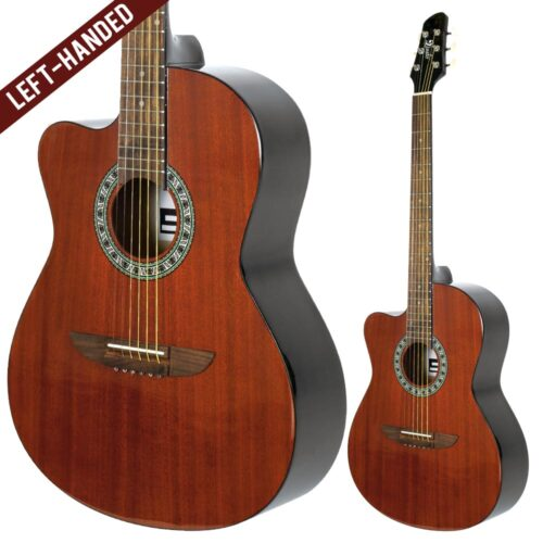 Lindo Left Handed 931C Mahogany Acoustic Guitar and Gigbag