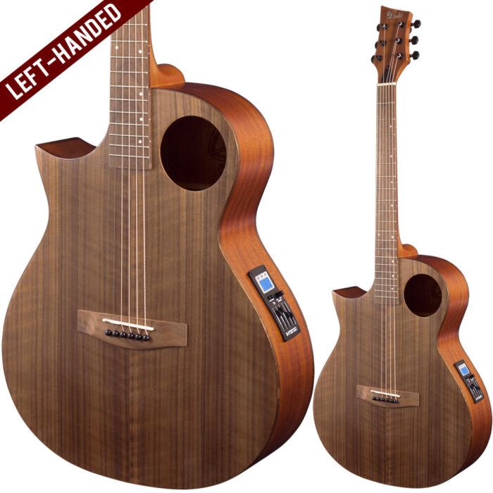 Lindo Left Handed Neptune SE V2 Electro Acoustic Guitar with F-4T Preamp and Padded Gigbag
