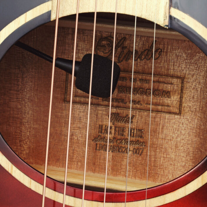 Lindo Karma Fire Electro Acoustic Guitar with BS5M Blend Preamp